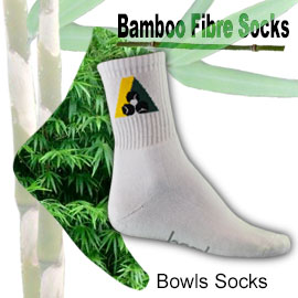 Bamboo bowls socks with required Bowls Australia logo.