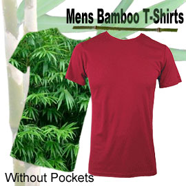 comfortable bamboo mens t-shirts without pockets in many sizes and colours