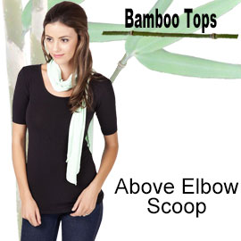 above elbow scoop bamboo top online shop category