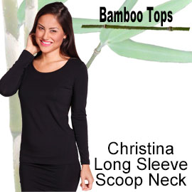 christina long sleeve scoop neck bamboo top online shop category