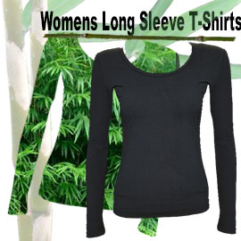 comfortable womens bamboo t-shirts. In black and white these t-shirts are very soft and comfortable against the skin.