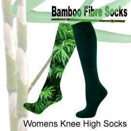 Bamboo knee high socks, womens knee high socks in many different colours