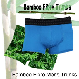comfortable bamboo fibre mens trunks in many sizes and colours