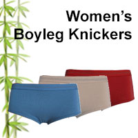 womens bamboo boyleg knickers online shop category