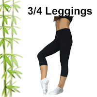 Bamboo three quarter leggings that are so comfortable that you can wear them for relaxation, mediation, yoga, travel or even to bed in winter.