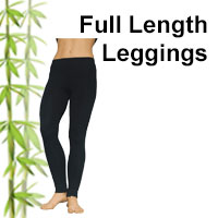 Bamboo full length leggings that are so comfortable. Great for flexibility exercises and relaxation including meditation