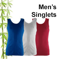 mens bamboo singlets online shop category