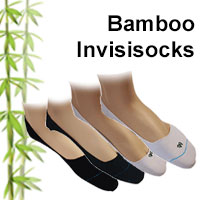 bamboo invisisocks in both half and quarter types