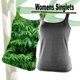 comfortable bamboo fibre womans singlets in many sizes and colours