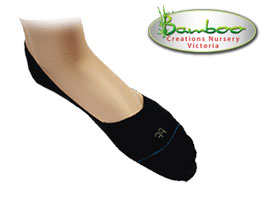 Bamboo Half Invisisocks - Black