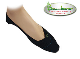 Bamboo Quarter Invisisocks - Black