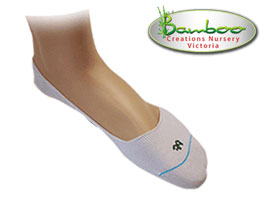 Bamboo Half Invisisocks - White