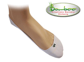 Bamboo Quarter Invisisocks - White