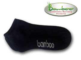 Bamboo Ped or Sports socks - All black