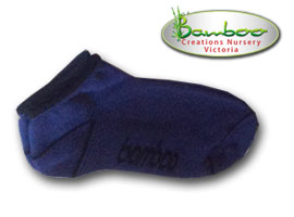 Bamboo Ped or Sports socks - Blue/Black