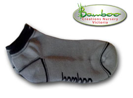 Bamboo Ped or Sports socks - Grey/black