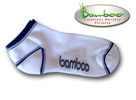 Bamboo Ped or Sports socks - White/Black