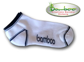 Bamboo Ped or Sports socks - White/Dark Blue