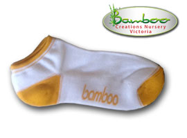 Bamboo Ped or Sports socks - White/gold
