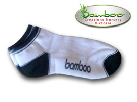 Bamboo Ped or Sports socks - White/Green