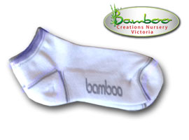 Bamboo Ped or Sports socks - White/Grey