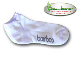 Bamboo Ped or Sports socks - All white