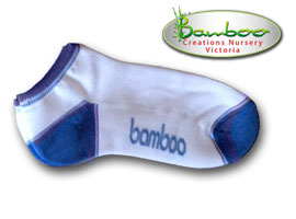 Bamboo Ped or Sports socks - White/Skyblue