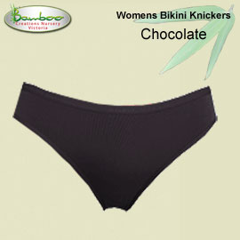 Womens Bamboo Bikini Knickers - Chocolate