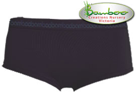 Womens Bamboo Boyleg Knickers - Chocolate