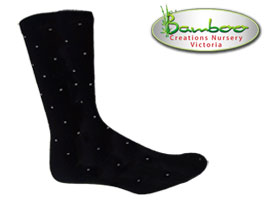 Comfort business Socks - Black with dove spots