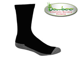 Charcoal Health Bamboo Socks - Black