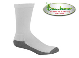 Charcoal Health Bamboo Socks - White