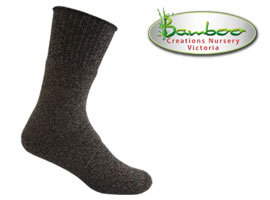 Charcoal Hiker Bamboo Socks - Black/Grey