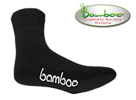 Bamboo Crew/Sport Socks - All Black