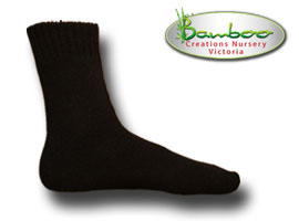 Extra Thick Bamboo Socks - Black