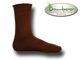 Extra Thick Bamboo Socks - Chocolate