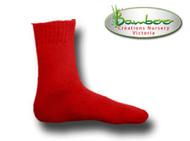Extra Thick Bamboo Socks - Fire red