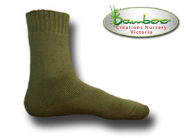 Extra Thick Bamboo Socks - Green