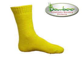 Extra Thick Bamboo Socks - High visabiltiy lemon