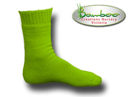 Extra Thick Bamboo Socks - High visabiltiy lime