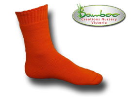 Extra Thick Bamboo Socks - High visability orange
