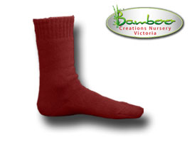 Extra Thick Bamboo Socks - Queensland state of origin maroon