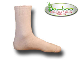 Extra Thick Bamboo Socks - White