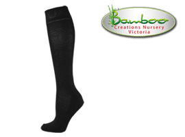 Womens bamboo knee high socks - Black