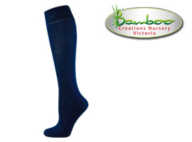 Womens bamboo knee high socks - Royal Navy bLUE