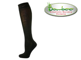 Womens bamboo knee high socks - Chocolate