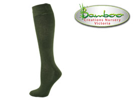 Womens bamboo knee high socks - Olive