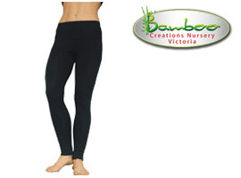 Bamboo full leggings - black