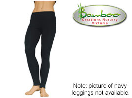 Bamboo full leggings - navy