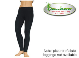 Bamboo full leggings - Slate coloured